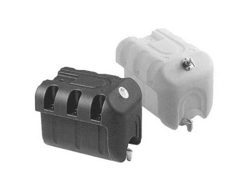 B000006 Depósito agua plástico blanco rectangular con jabonera – cap. 30 l