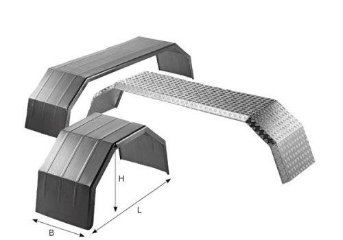 C101010 Aleta acero galv. 2 ejes para vehículos de obra – 650x2700x3500 mm