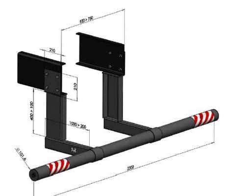 I781100 Dispositivo antiempotramiento trasero fijo RESMA