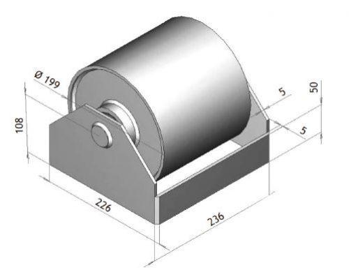 K600001 Rodillo de contenedor – Ø200 mm
